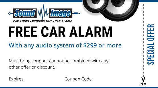 free car alarm coupon