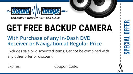 get free backup camera coupon